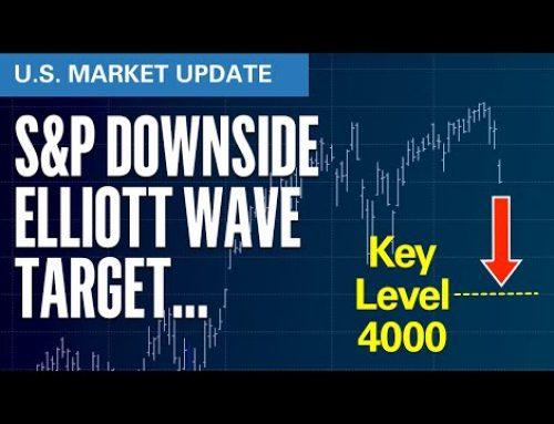 S&P Downside Elliott Wave Target 4000?   | U.S. Market Update